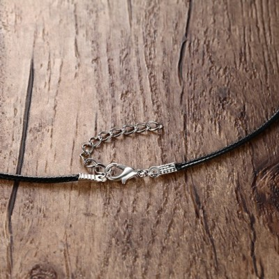 Tinnivi Black Wax Cord Chain Necklaces