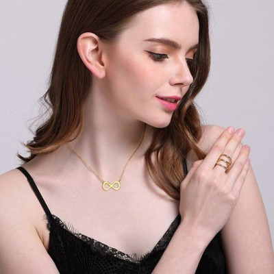 Tinnivi Infinite Gold Titanium Steel Fashion Necklaces For Women