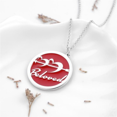 Straight To My Heart Personalized Pendant 925 Sterling Silver Necklace