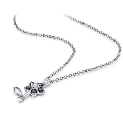 Tinnivi Cute Flower Sterling Silver Pendant Necklace