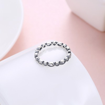 Tinnivi Sterling Silver Fashion Created White Sapphire Band